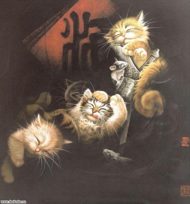Кошки в традиционной китайской живописи гохуа -- необычно и очаровательно