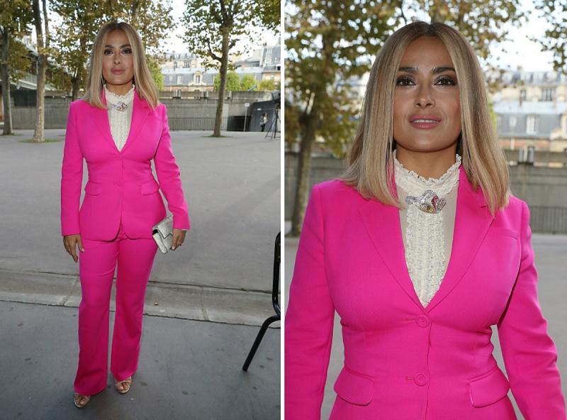 Сальма Хайек превратилась из жгучей брюнетки в милую блондинку
