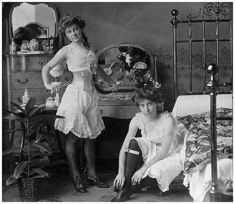 Девушки с пониженной социальной ответственностью из борделей Дикого Запада девушки, дикий запад, интересное, салун, старые фото