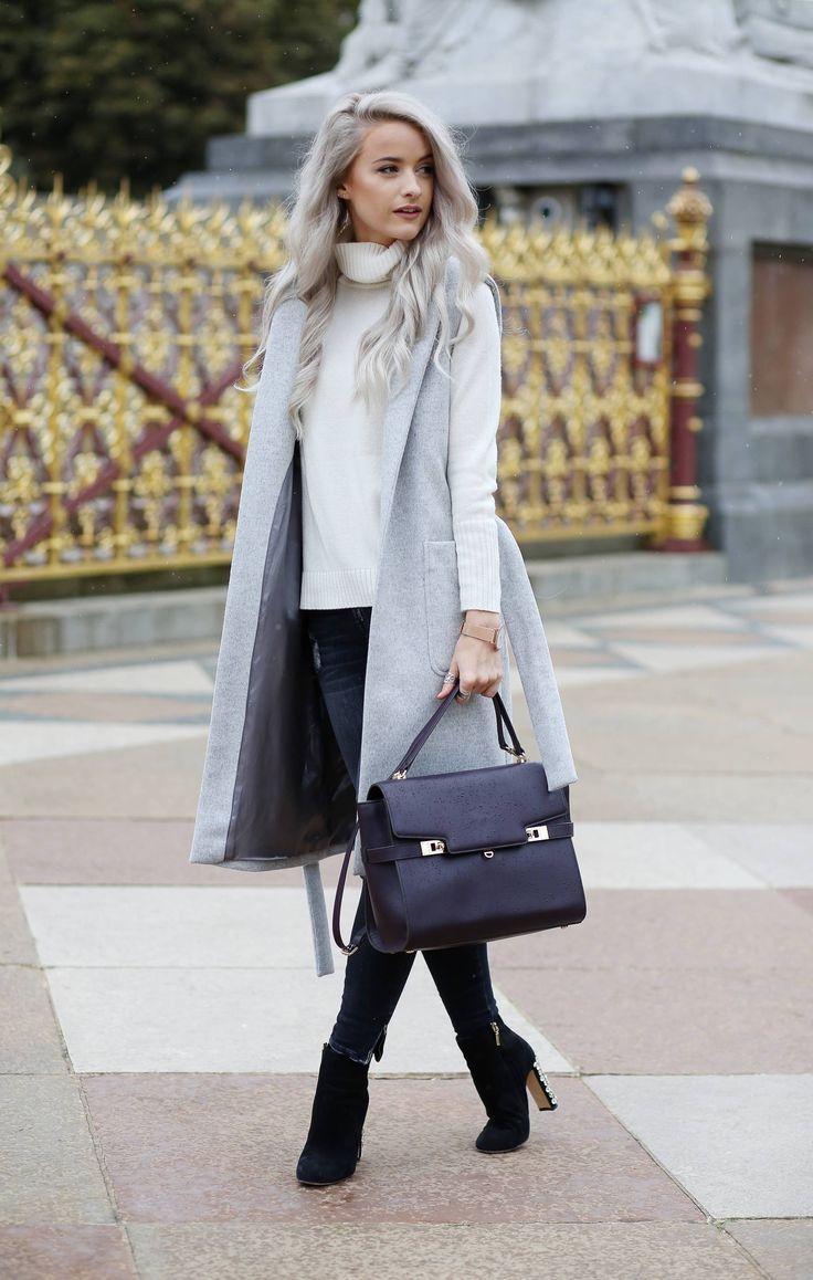 Картинки по запросу sleeveless coat street style