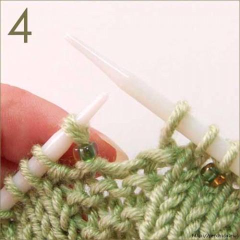 Вязание с бисером без нанизывания бисера на нить