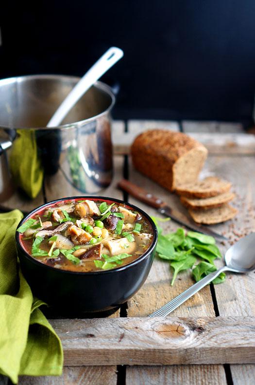 Просто и быстро! Грибной суп с фасолью