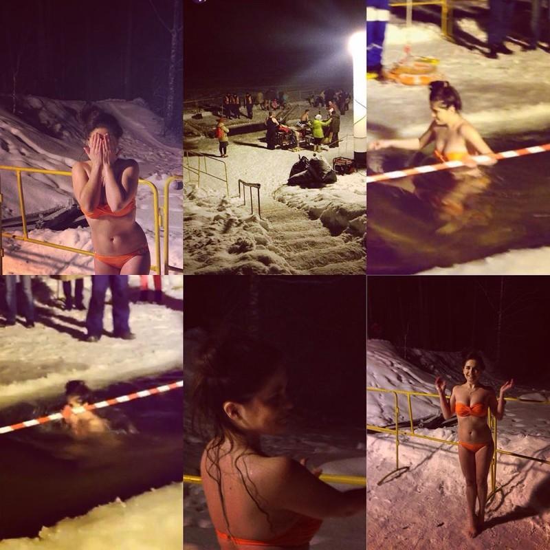 Православные красавицы прыгают в прорубь девушки, зима, крещение, купание