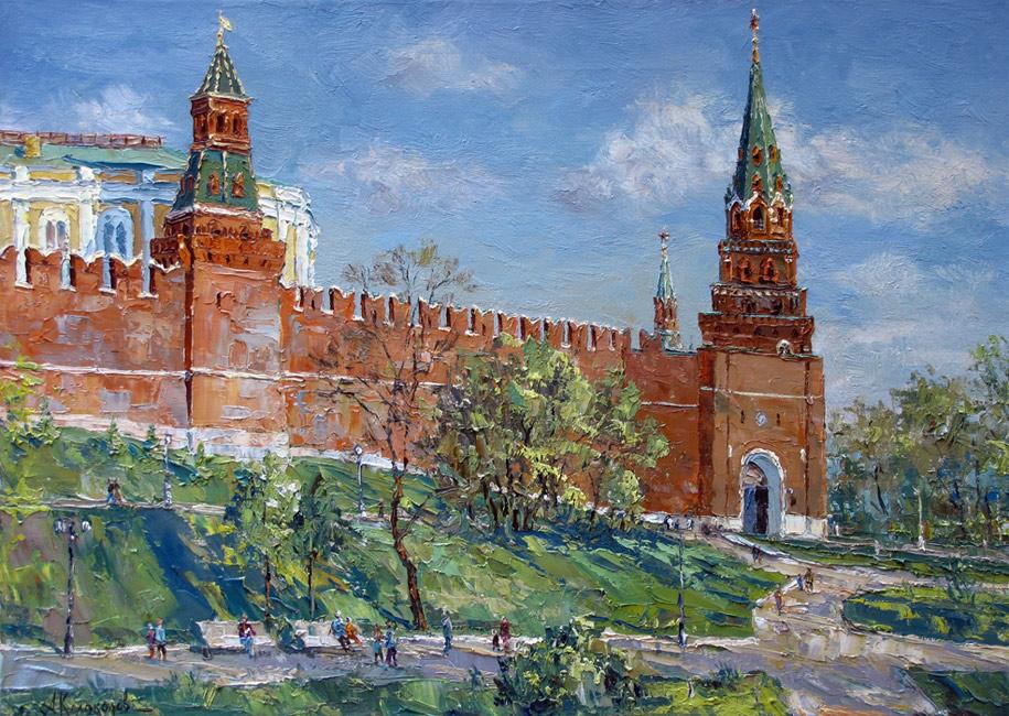 художник  Колоколов Антон,  В Александровском саду