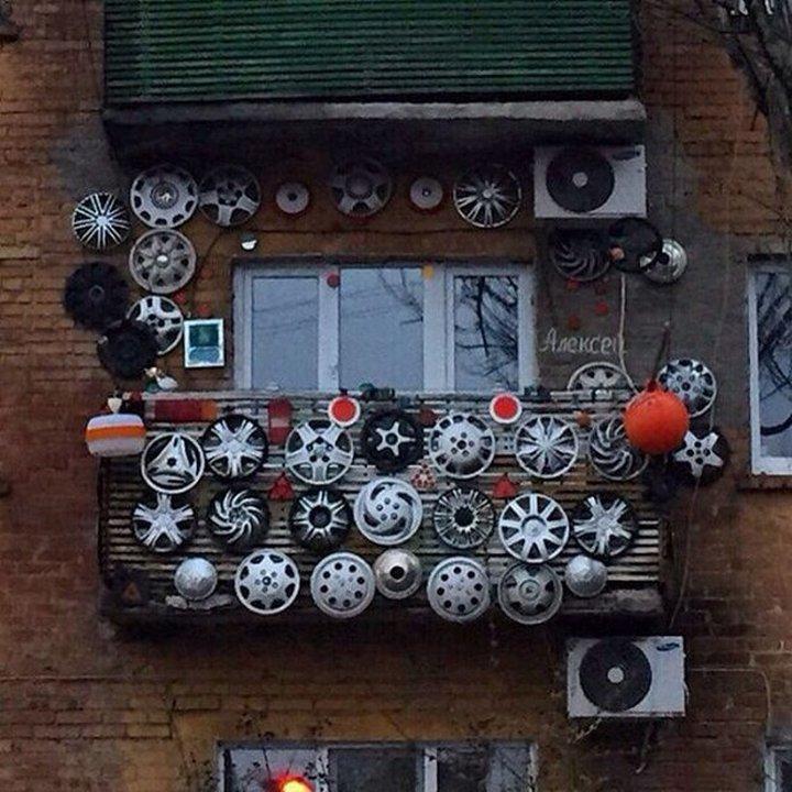 Оригинальные русские балконы, 10 смешных фото приколов.