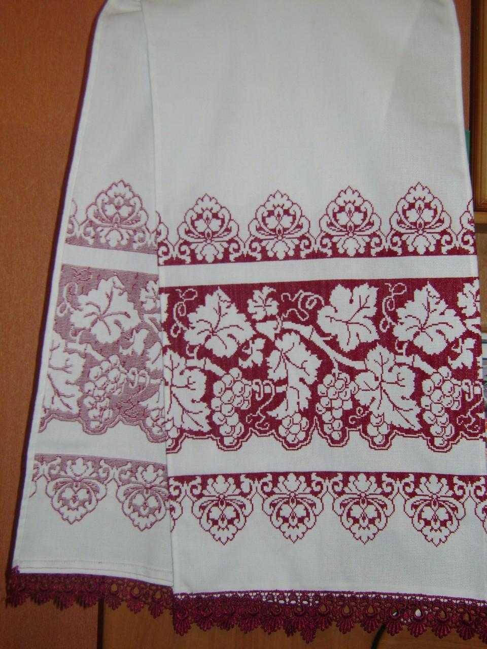 схема крестиком вишивки свадебних рушников