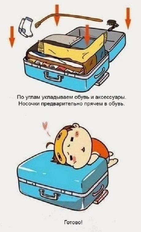 собираем чемодан шаг 6