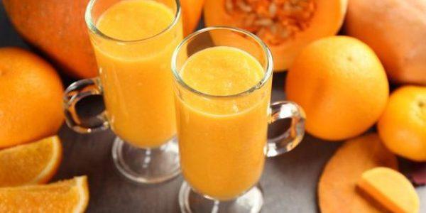 Овсяный кисель с тыквой и апельсиновым соком