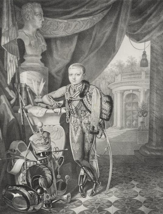 К. Гампельн. Портрет великого князя Александра Николаевича
