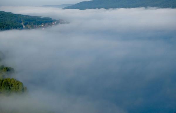 Красноярск, туман