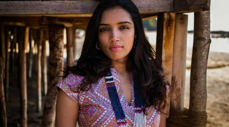 """""""A-fashion-designer-from-Chennai-visiting-the-beaches-of-Goa-for-vacation1"""