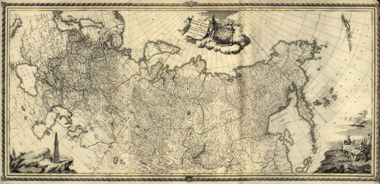 Редкие карты России, составленные иностранцами за последние 500 лет