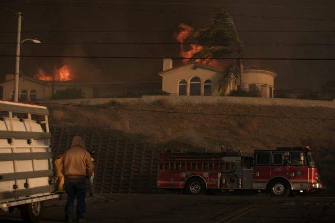 Лесные пожары в Калифорнии