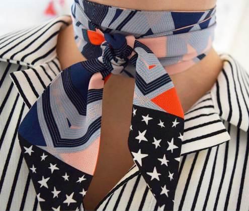 Как стильно носить платок — 5 модных вариантов