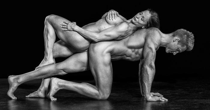 Обнаженные портреты спортсменов,  показывают красоту и силу человеческого тела