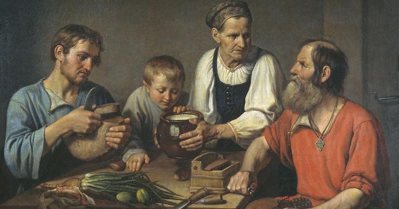 «Хлеб и вода — наша еда»: что и как ели в русских деревнях в конце XIX века