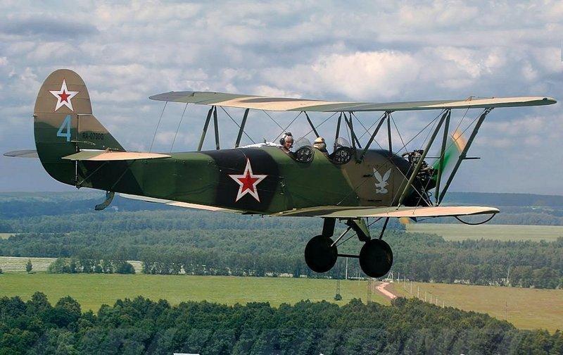 Ветеран авиации СССР: биплан По-2 (У-2) авиаконструктора Николая Николаевича Поликарпова