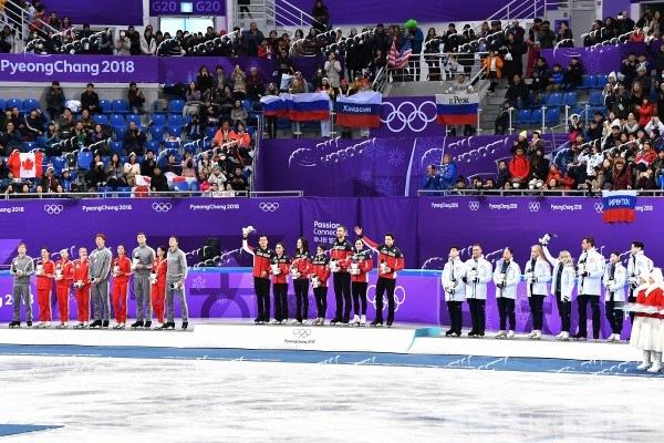 Фигуристы принесли сборной России 2-ю медаль ОИ, завоевав серебро в командном турнире