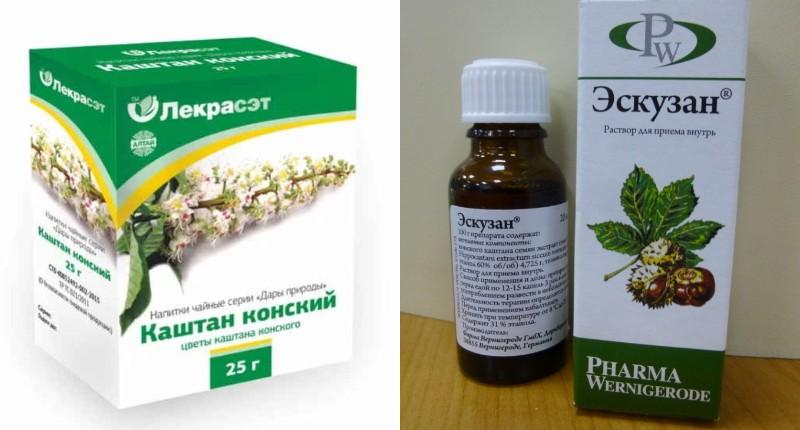 цветы конского каштана против варикоза