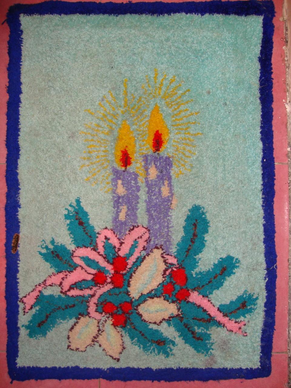 Вышивка ковров иглой фото