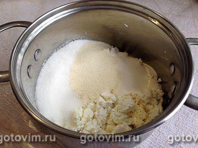 Творожно-банановый десерт с безе, Шаг 03