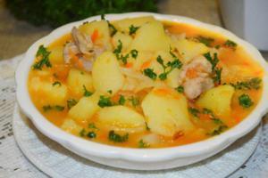 Рагу с капустой и картошкой и мясом рецепт