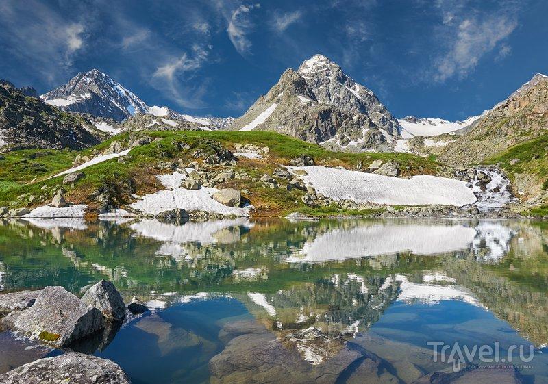 Горное озеро, Катунский хребет на Алтае