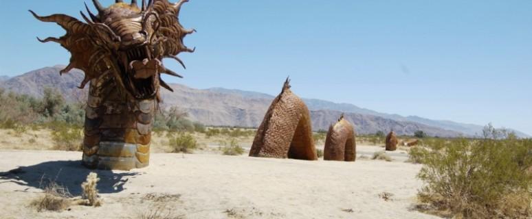Скульптуры в пустыне Анза Боррего в Калифорнии