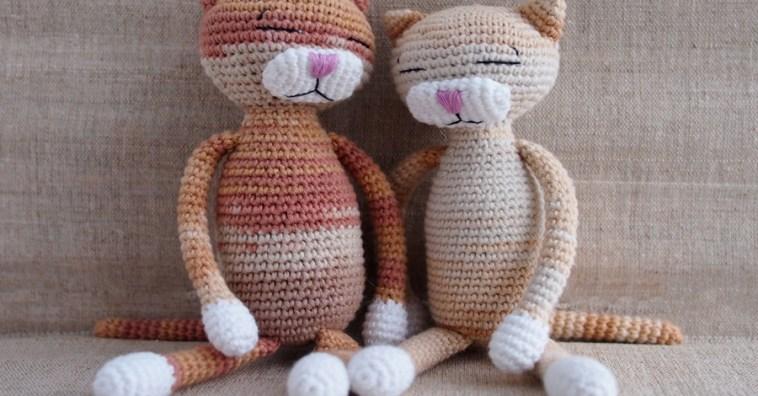 Вяжем крючком милых котиков-амигуруми