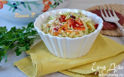 Рецепт – Капустный салат с маринадом