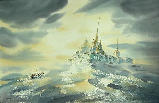 Петербургская акварель Константина Куземы