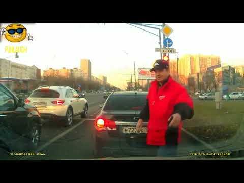 Быдло на дороге, беспредел! МГНОВЕННАЯ КАРМА!!