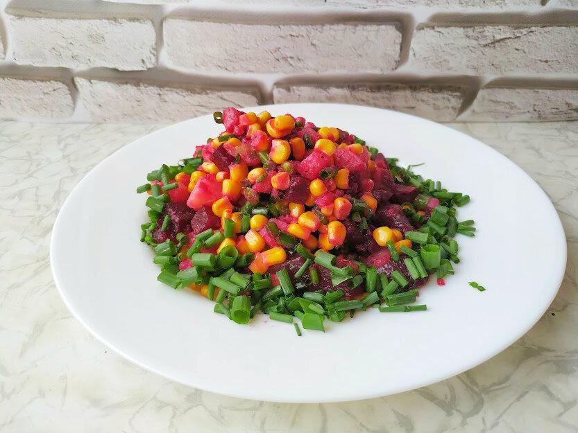 Вместо привычного винегрета рецепт постного вкусного салата из свеклы!
