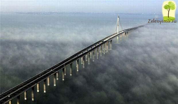 Мост через залив Ханчжоувань - один из самых длинных мостов мира - 7