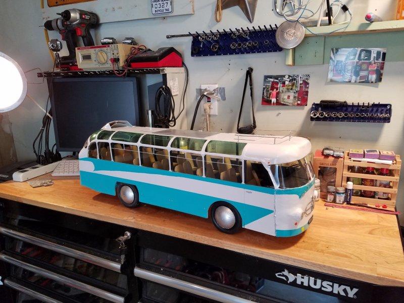 Модель автобуса ЛАЗ-697Е своими руками
