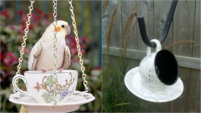 Самое интересное применение ненужных чашек! Теперь на участке всегда есть птицы и белки