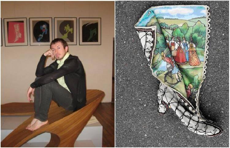 Сапожник-дизайнер из России создаёт филигранную обувь, подобную фрескам