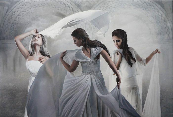 Белое платье. Автор: Brita Seifert.