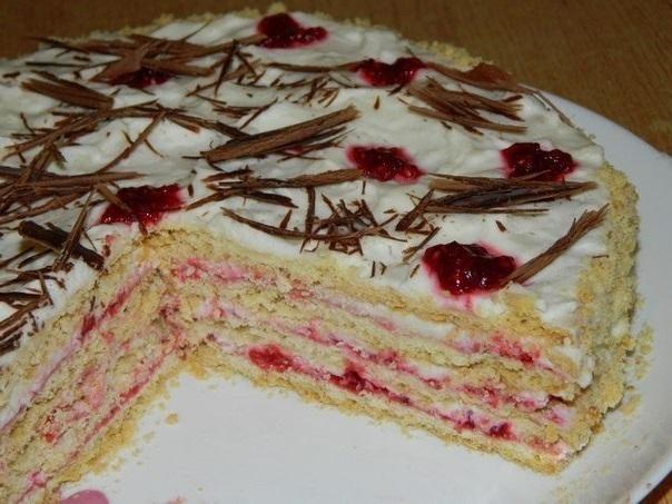 Любимый песочный торт со сливочным кремом