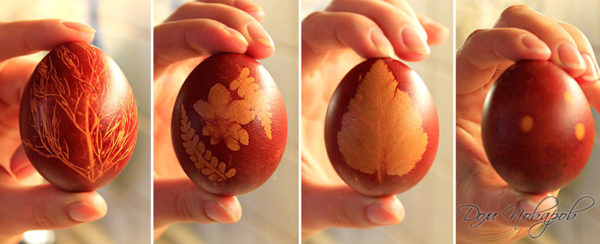 Как легко и быстро покрасить яйца на Пасху.