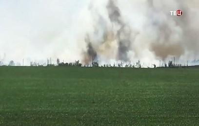 Пожар на складе боеприпасов в Харьковской области локализован