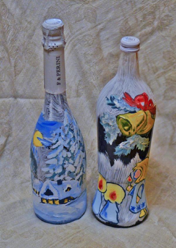 Роспись по бутылкам в домашних условиях