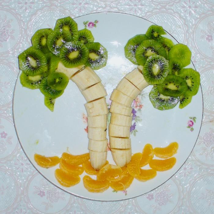 Как украсить фрукты своими руками фото
