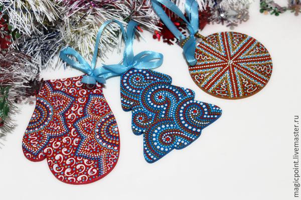 Мастер-класс по точечной росписи новогодних подвесок