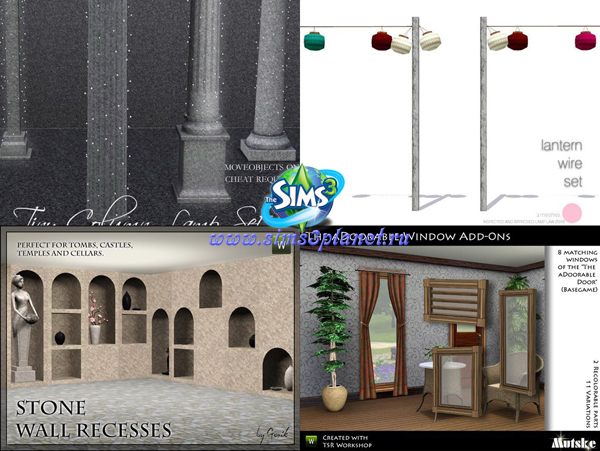 Мебель, декор, строительство для симс 3