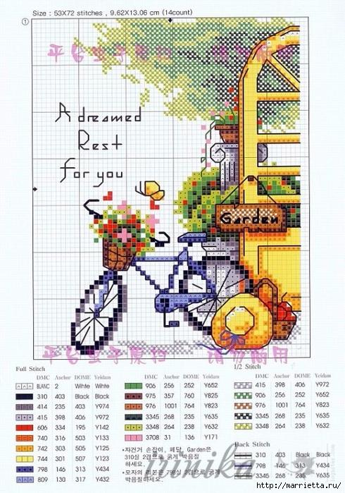 Вышиваем велосипед. Идеи со схемами (13) (490x700, 320Kb)