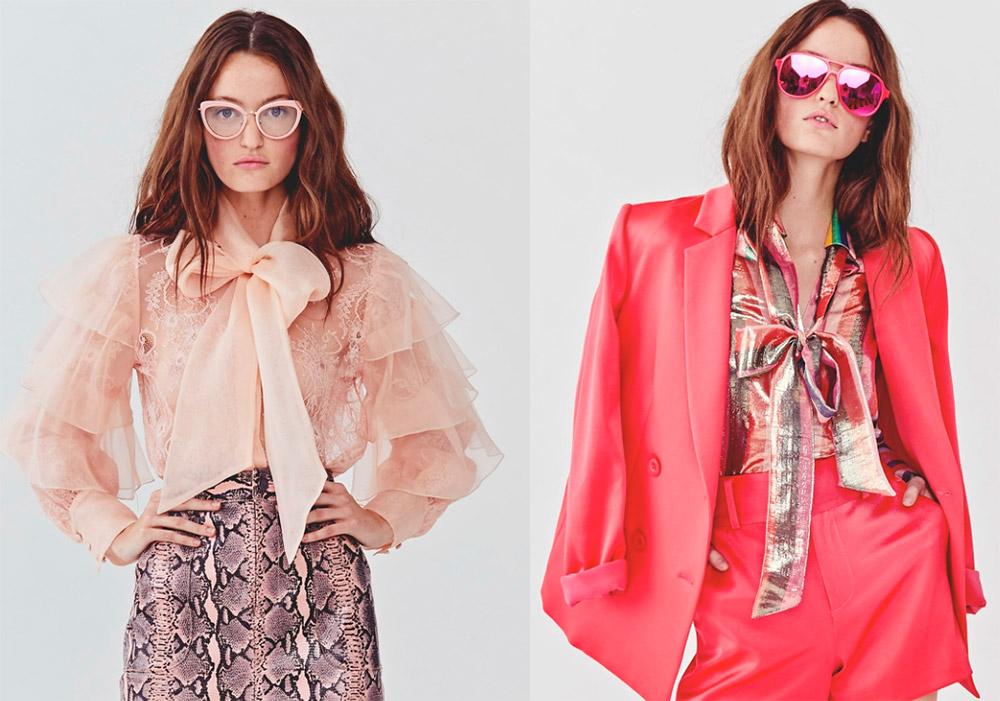 Модные тенденции — блузки и юбки с бантами из лучших коллекций 2018