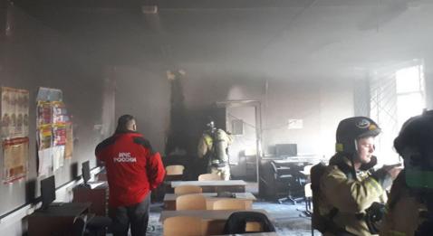 Опубликовано видео с места нападения на школу в Башкирии