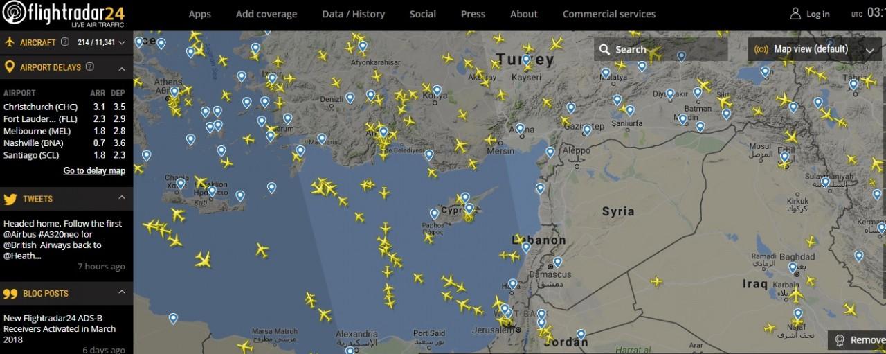 Небо над Сирией опустело