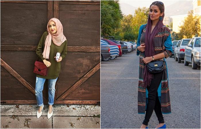 20 уличных портретов иранских женщин в хиджабах